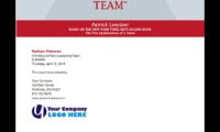 Profil five behaviors of a cohesive team disc partners