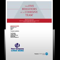Five Behaviors of a Cohesive Team Assessment bundle 3 disc partners
