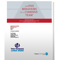 five behaviors of a cohesive team assessment bundle 6